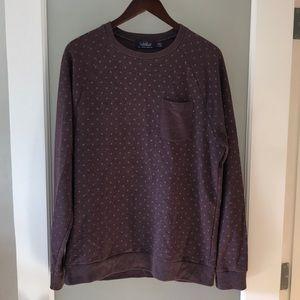 Topman Maroon Crewneck Sweatshirt